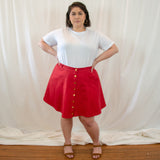 Janis Mini Skirt in Hemp Canvas