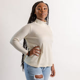 wool mock neck top, wool turtleneck, plus size wool turtleneck