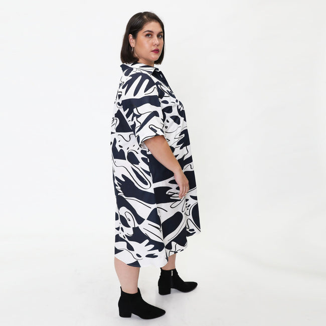Ina Shirtdress in Hands Print