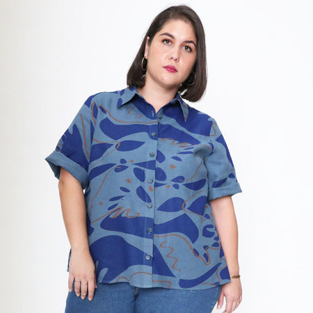 "The Catherine ""Big Shirt"" in Cupro"