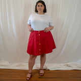 canvas mini skirt, organic cotton, hemp fabric, plus size sustainable skirt