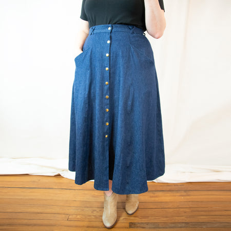 The Zelda Pinafore Denim Dress