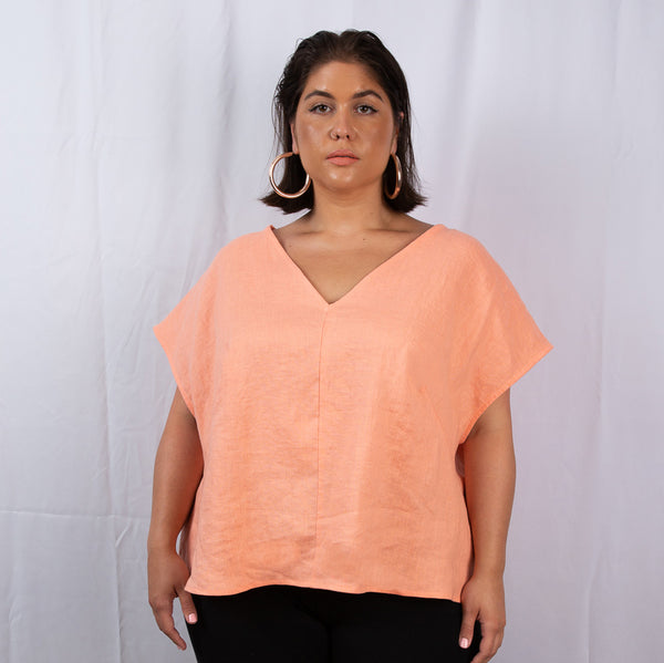 linen tee, linen top, plus size linen, sustainable plus size, plus size linen top