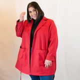 The Bessie Adventure Jacket in Chili Red