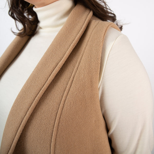 The Simone Vest 2.0- Limited Edition Camel Wool