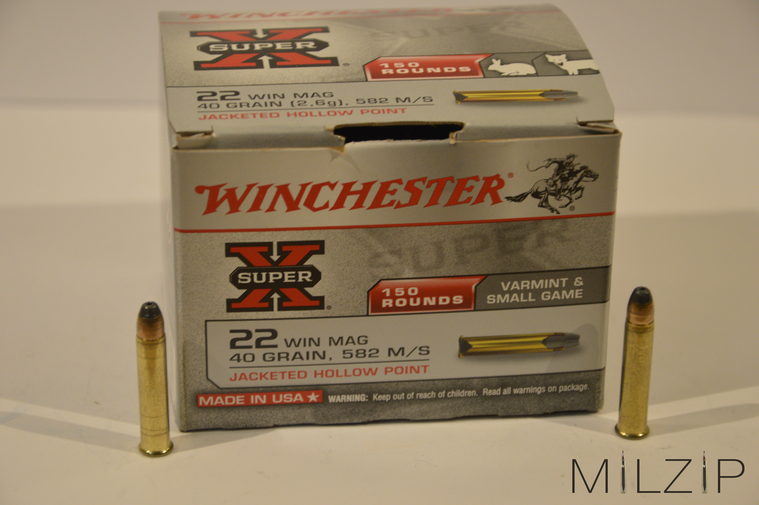 Winchester SuperX .22 WIN MAG 2,6g/40grs.