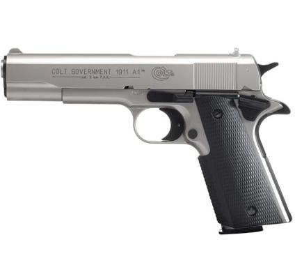 Colt Government 1911 A1 Polished Chrome 9 mm P.A.K.