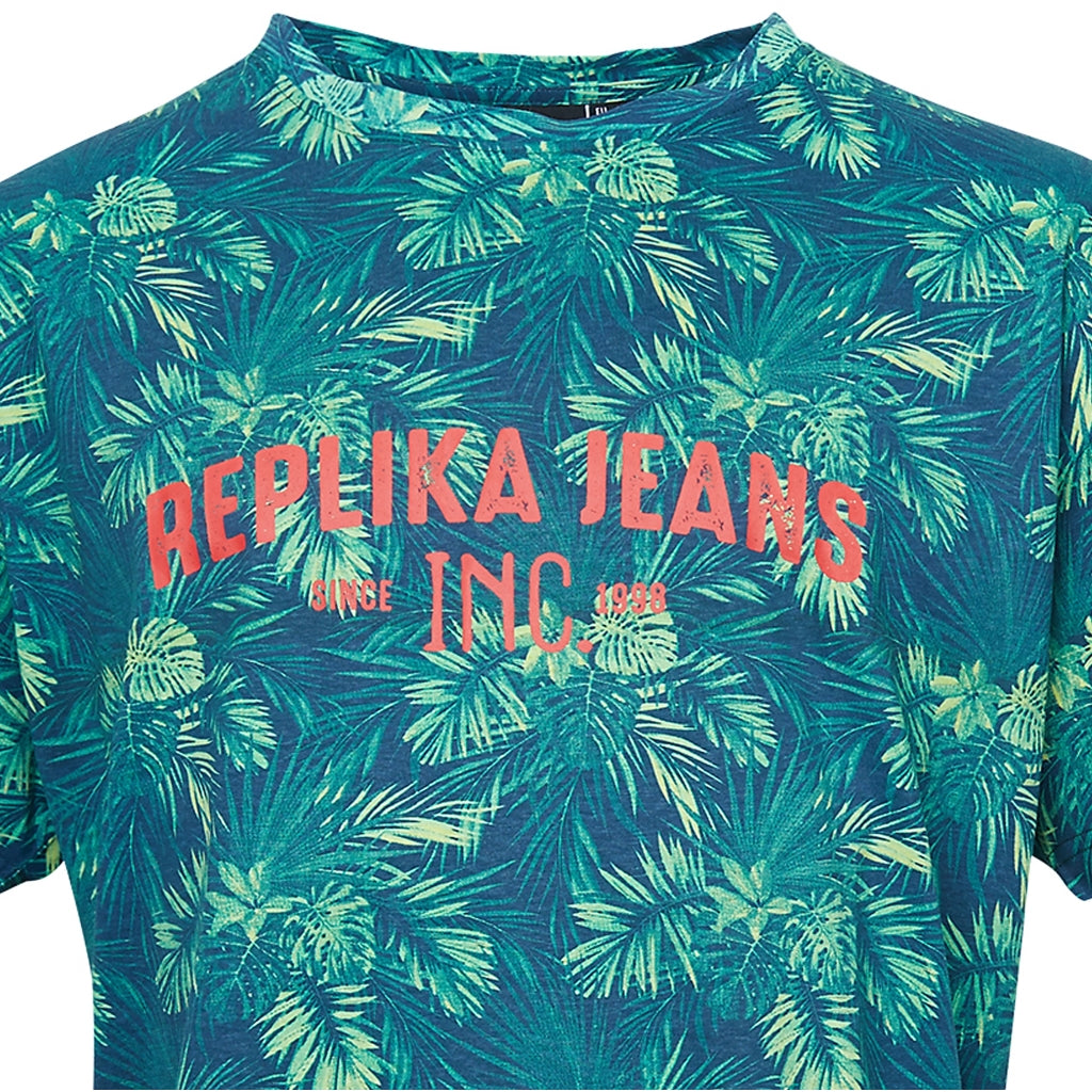 North 56°4 / Replika Jeans (Big & Tall) REPLIKA JEANS Flower print tee T-shirt 0930 Printed