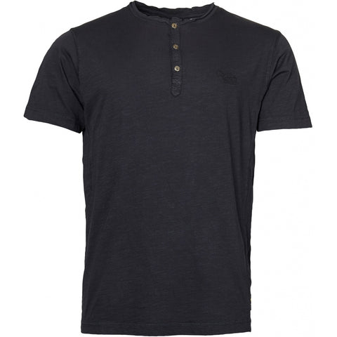 North 56°4 / Replika Jeans (Big & Tall) REPLIKA JEANS Granddad tee T-shirt 0099 Black