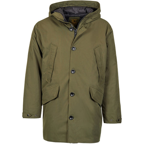 North 56°4 / Replika Jeans (Big & Tall) REPLIKA JEANS Parka Jacket 0660 Olive Green