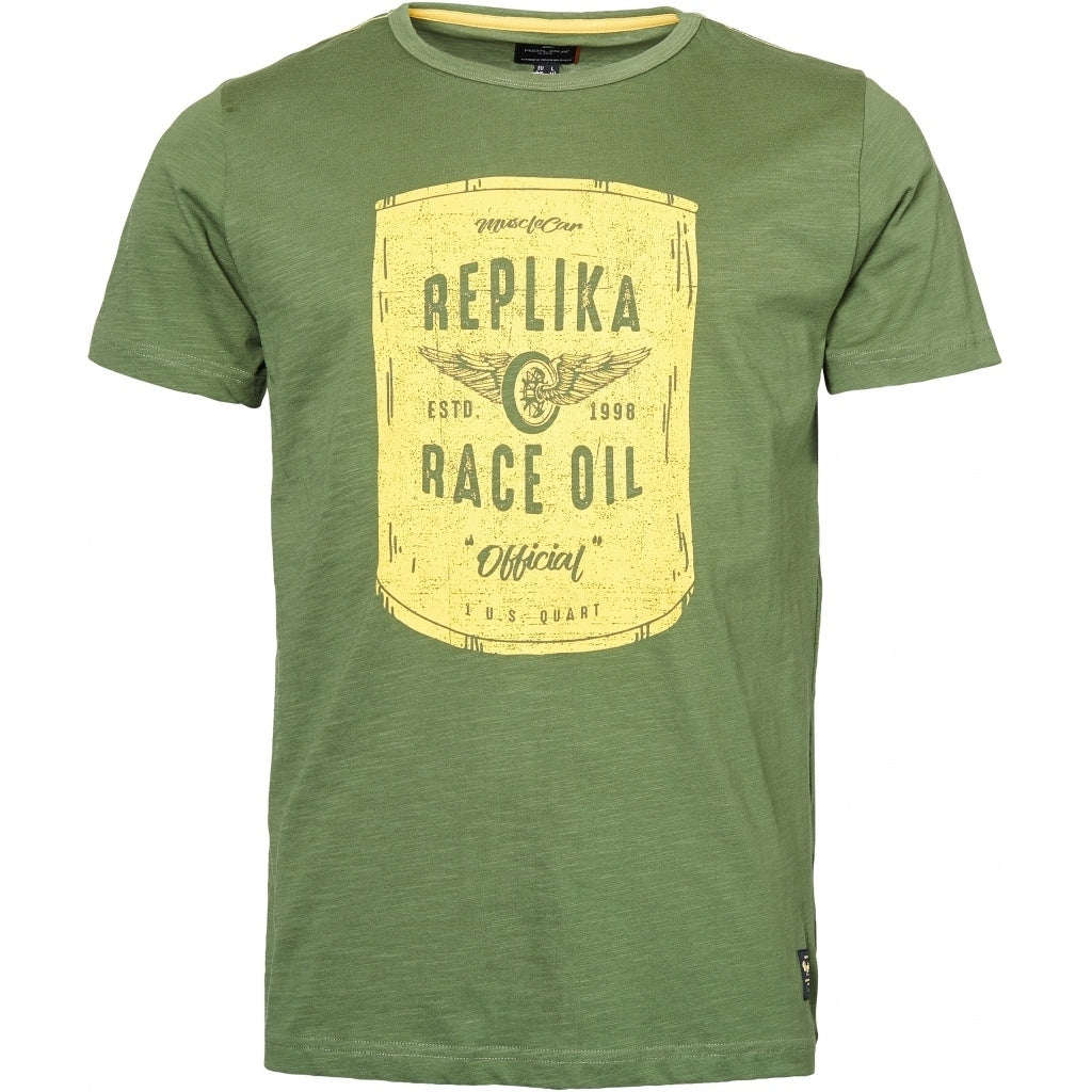 North 56°4 / Replika Jeans (Big & Tall) REPLIKA JEANS Printed t-shirt TALL T-shirt 0660 Olive Green
