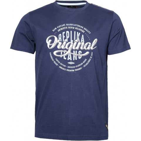 North 56°4 / Replika Jeans (Big & Tall) REPLIKA JEANS Printed t-shirt TALL T-shirt 0580 Navy Blue