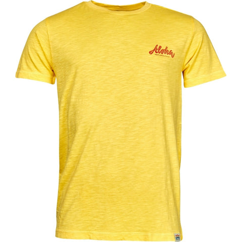 North 56°4 / Replika Jeans (Big & Tall) REPLIKA JEANS Printed t-shirt TALL T-shirt 0400 Yellow