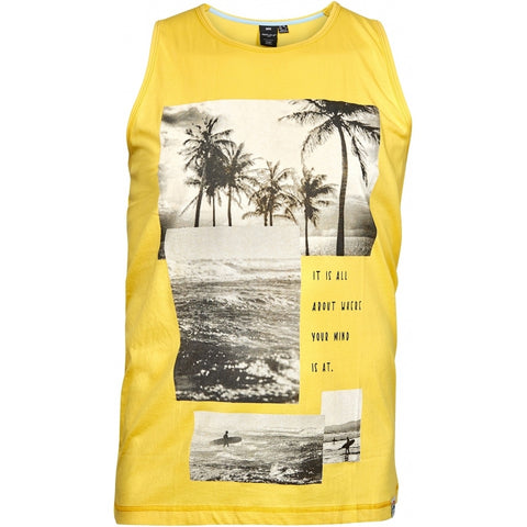North 56°4 / Replika Jeans (Big & Tall) REPLIKA JEANS Printed tank top Tank 0400 Yellow