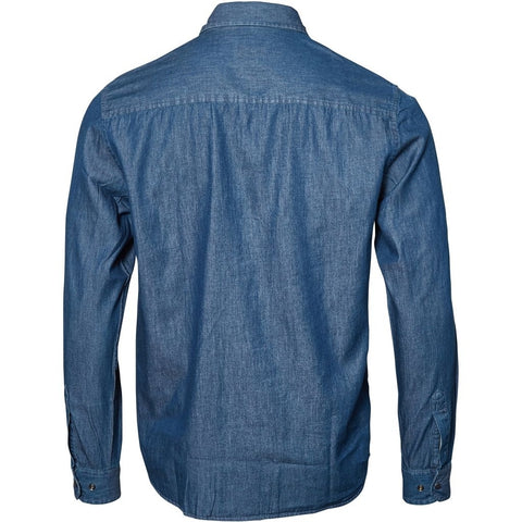 North 56°4 / Replika Jeans (Big & Tall) REPLIKA JEANS Shirt L/S Shirt LS 0597 Blue Used Wash