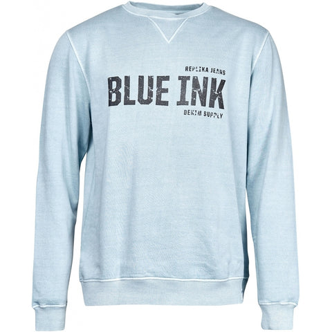 North 56°4 / Replika Jeans (Big & Tall) REPLIKA JEANS Crew neck sweatshirt Sweatshirt 0520 Light Blue