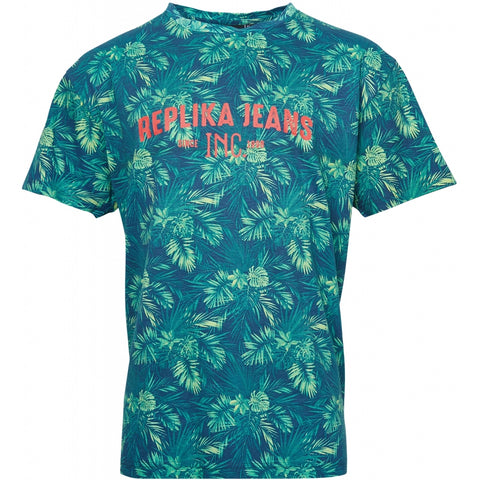 North 56°4 / Replika Jeans (Big & Tall) REPLIKA JEANS Flower print tee Tall T-shirt 0930 Printed