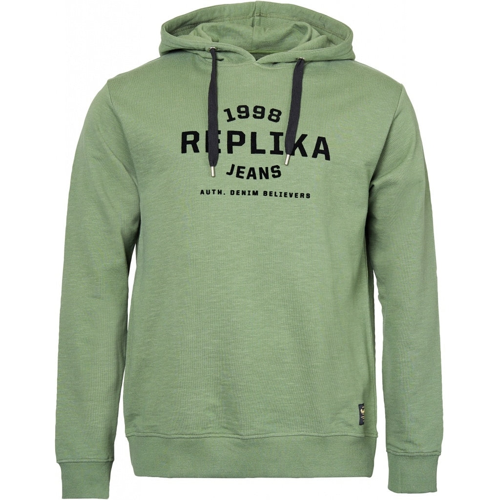 North 56°4 / Replika Jeans (Big & Tall) REPLIKA JEANS Hooded sweat Sweatshirt 0660 Olive Green
