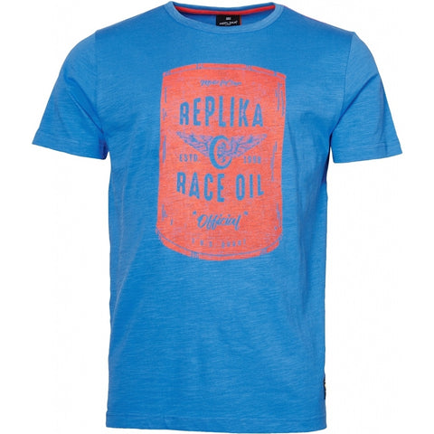 North 56°4 / Replika Jeans (Big & Tall) REPLIKA JEANS Printed t-shirt TALL T-shirt 0565 Zephyr Blue