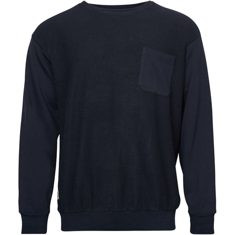 North 56°4 / Replika Jeans (Big & Tall) REPLIKA JEANS inside out crew neck sweat Tall Sweatshirt 0099 Black