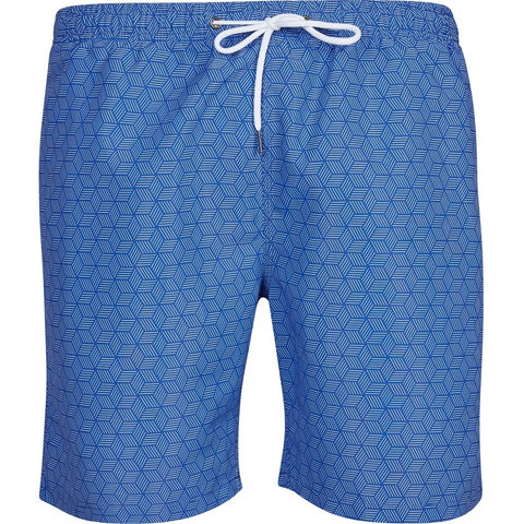 North 56°4 / Replika Jeans (Big & Tall) North 56°4 Allover printed swimshorts Shorts 0540 Mid Blue