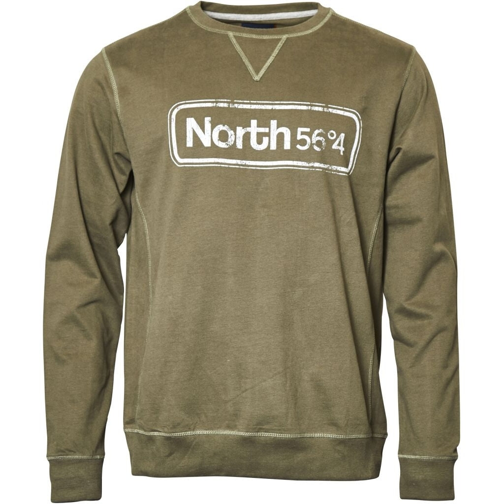North 56°4 / Replika Jeans (Big & Tall) North 56°4 Crew-neck sweat TALL Sweatshirt 0660 Olive Green