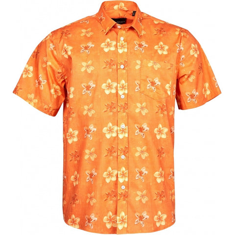 North 56°4 / Replika Jeans (Big & Tall) North 56°4 Flower printed shirt S3 Shirt SS 0200 Orange