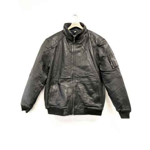 North 56°4 / Replika Jeans (Big & Tall) North 56°4 Leather jacket Jacket 0099 Black