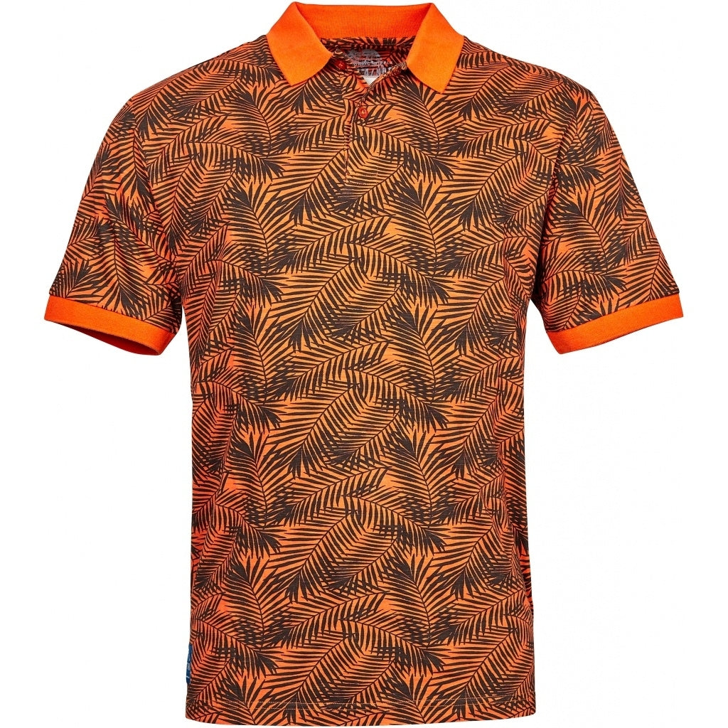 North 56°4 / Replika Jeans (Big & Tall) North 56°4 Polo allover print T-shirt 0200 Orange