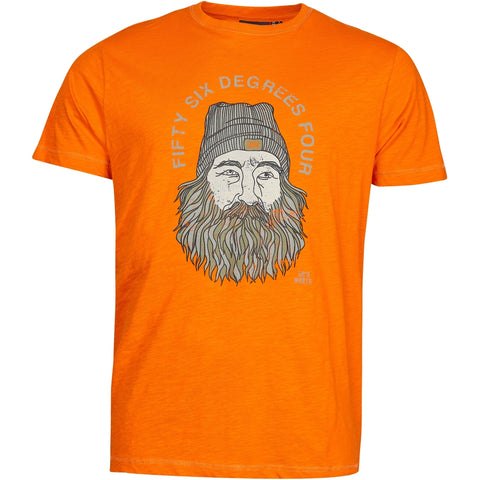 North 56°4 / Replika Jeans (Big & Tall) North 56°4 Printed t-shirt T-shirt 0200 Orange