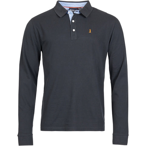 North 56°4 / Replika Jeans (Big & Tall) North 56°4 Polo L/S Polo LS 0099 Black