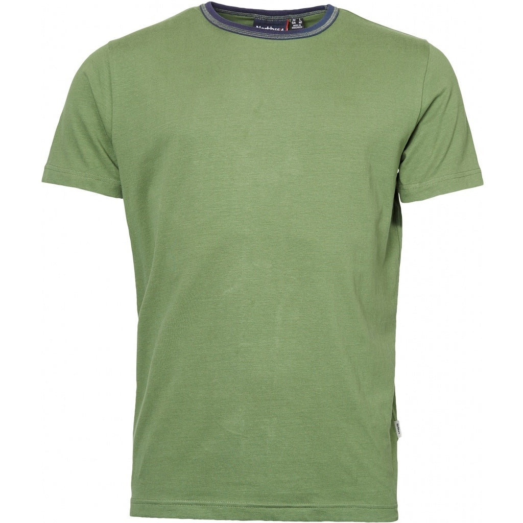 North 56°4 / Replika Jeans (Big & Tall) North 56°4  T-shirt w/contrast T-shirt 0660 Olive Green