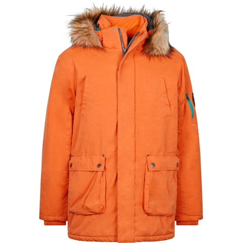 North 56°4 / Replika Jeans (Big & Tall) North 56°4 Parka w/detachable hood and fur Jacket 0200 Orange