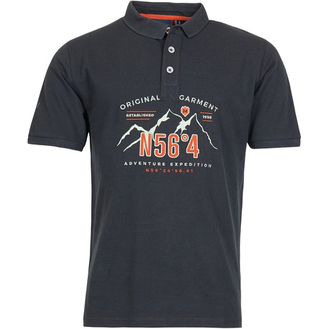 North 56°4 / Replika Jeans (Big & Tall) North 56°4 Polo w/embroidery T-shirt 0099 Black