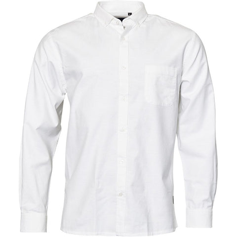 North 56°4 / Replika Jeans (Big & Tall) North 56°4 Oxford shirt w/stretch Shirt LS 0000 White