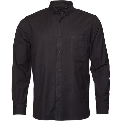 North 56°4 / Replika Jeans (Regular) North 56°4 Oxford shirt w/stretch Shirt LS 0099 Black