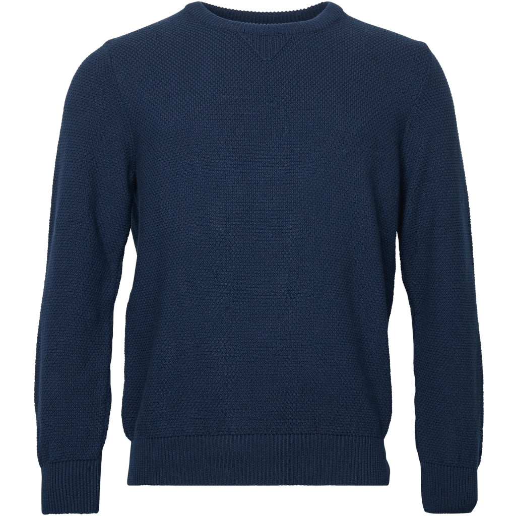 North 56°4 / Replika Jeans (Big & Tall) North 56°4 GOTS knit Pullover 0580 Navy Blue
