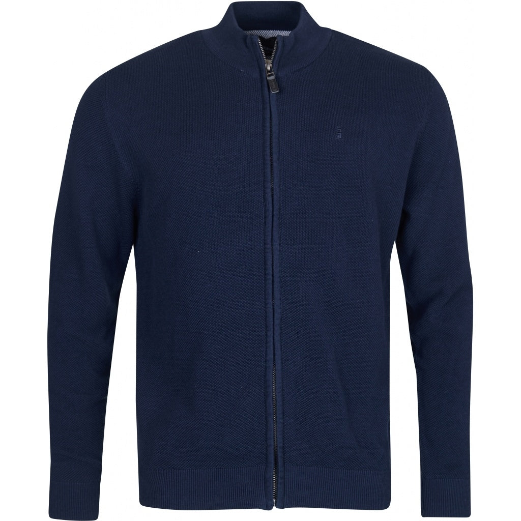 North 56°4 / Replika Jeans (Big & Tall) North 56°4 Knit cardigan zip Knit 0580 Navy Blue