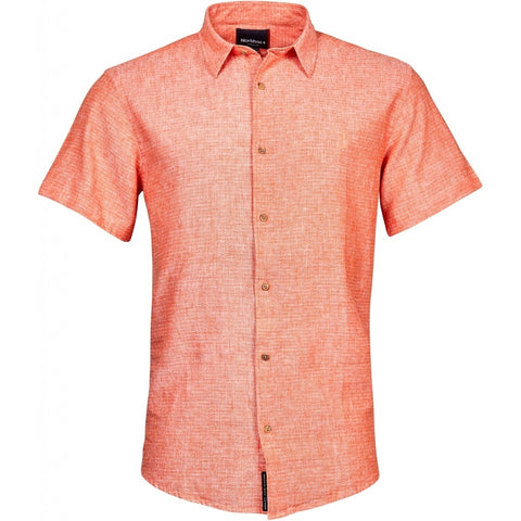 North 56°4 / Replika Jeans (Big & Tall) North 56°4 Linen shirt S3 TALL Shirt SS 0200 Orange