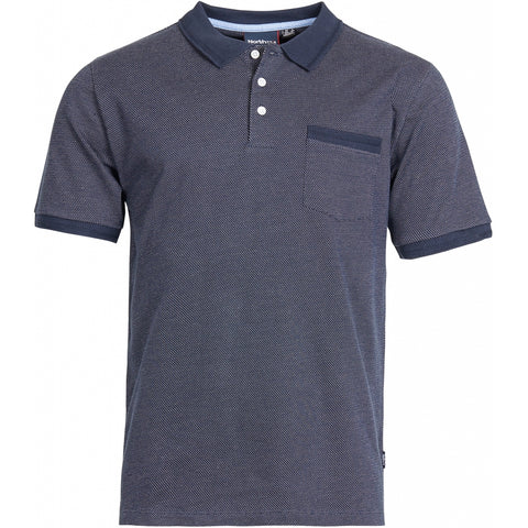 North 56°4 / Replika Jeans (Big & Tall) North 56°4 Pattern polo T-shirt 0580 Navy Blue