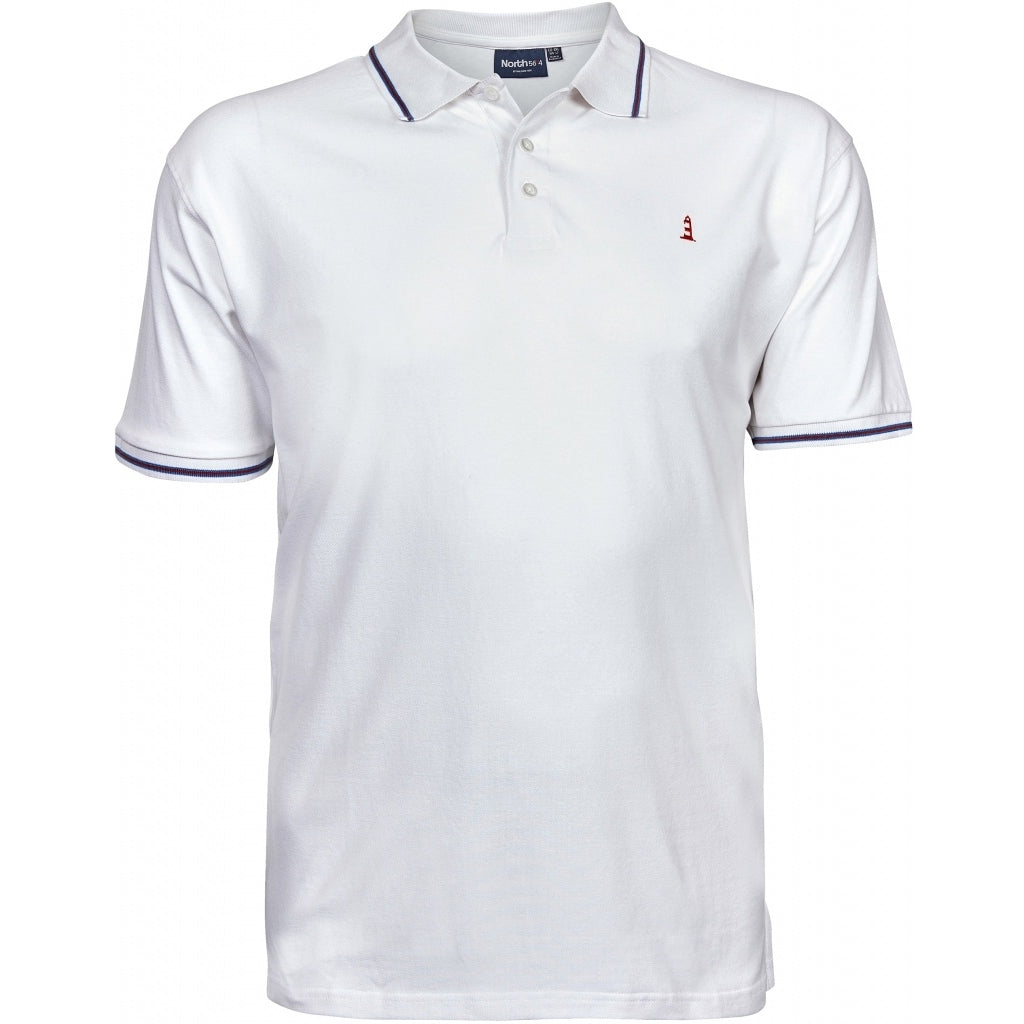 North 56°4 / Replika Jeans (Big & Tall) North 56°4 Pique polo T-shirt 0000 White