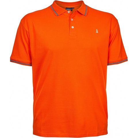 North 56°4 / Replika Jeans (Big & Tall) North 56°4 Pique polo T-shirt 0200 Orange
