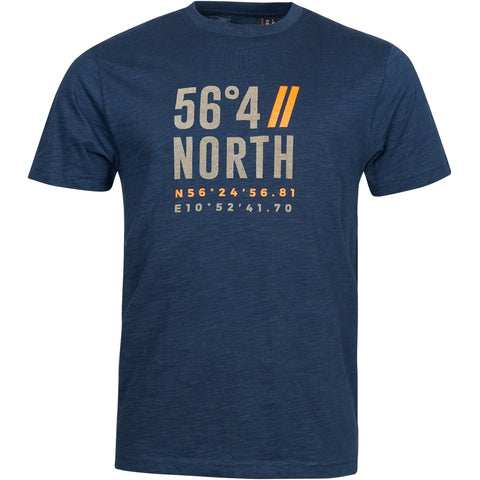 North 56°4 / Replika Jeans (Big & Tall) North 56°4 Printed t-shirt T-shirt 0580 Navy Blue