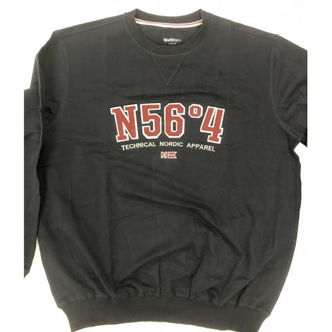 North 56°4 / Replika Jeans (Regular) North 56°4 Sweatshirt Sweatshirt 0580 Navy Blue