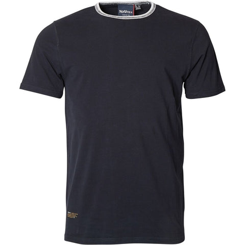 North 56°4 / Replika Jeans (Big & Tall) North 56°4 T-shirt contrast neck T-shirt 0099 Black