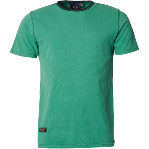 North 56°4 / Replika Jeans (Big & Tall) North 56°4 T-shirt contrast neck T-shirt 0600 Green