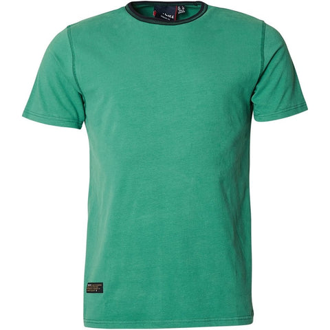 North 56°4 / Replika Jeans (Big & Tall) North 56°4 T-shirt contrast neck TALL T-shirt 0600 Green