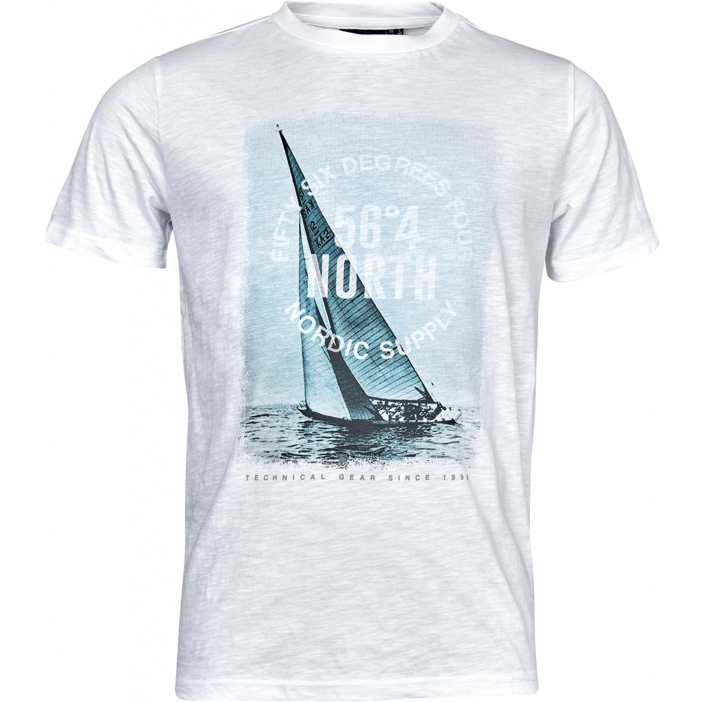 North 56°4 / Replika Jeans (Big & Tall) North 56°4 Printed T-shirt S/S T-shirt 0000 White