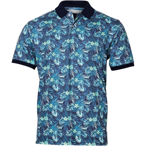 North 56°4 / Replika Jeans (Regular) North 56°4 Flower polo S/S T-shirt 0600 Green