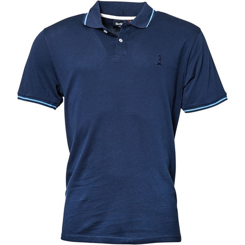 North 56°4 / Replika Jeans (Regular) North 56°4 Polo S/S T-shirt 0580 Navy Blue